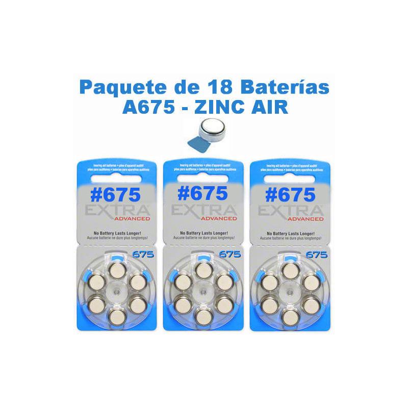 Paquete de 18 pilas bater as a675 tipo bot n para - Tipos de pilas de boton ...