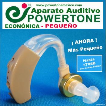 POWERTONE® ECONÓMICA Pequeño - Aparato Auditivo Auxiliar