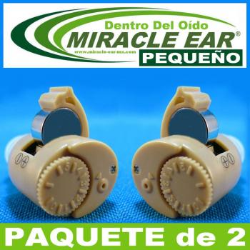 Paquete de 2 MIRACLE EAR® Aparato Auditivo PEQUEÑO Batería Dentro del Oído