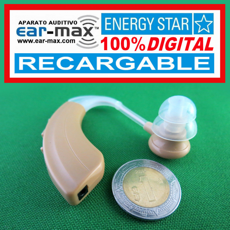 Paquete de 2 - EAR MAX® ENERGY STAR RECARGABLE - Aparato Auditivo 100% DIGITAL