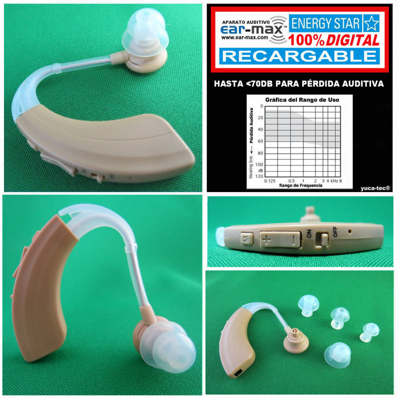 Paquete de 2 - EAR MAX® ENERGY STAR RECARGABLE - Aparato Auditivo 100% DIGITAL