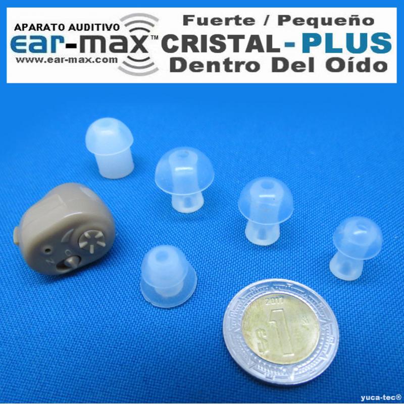 Paquete de 2 EAR MAX® CRISTAL  PLUS  - Aparato Auditivo Auxiliar - Dentro Del Oído