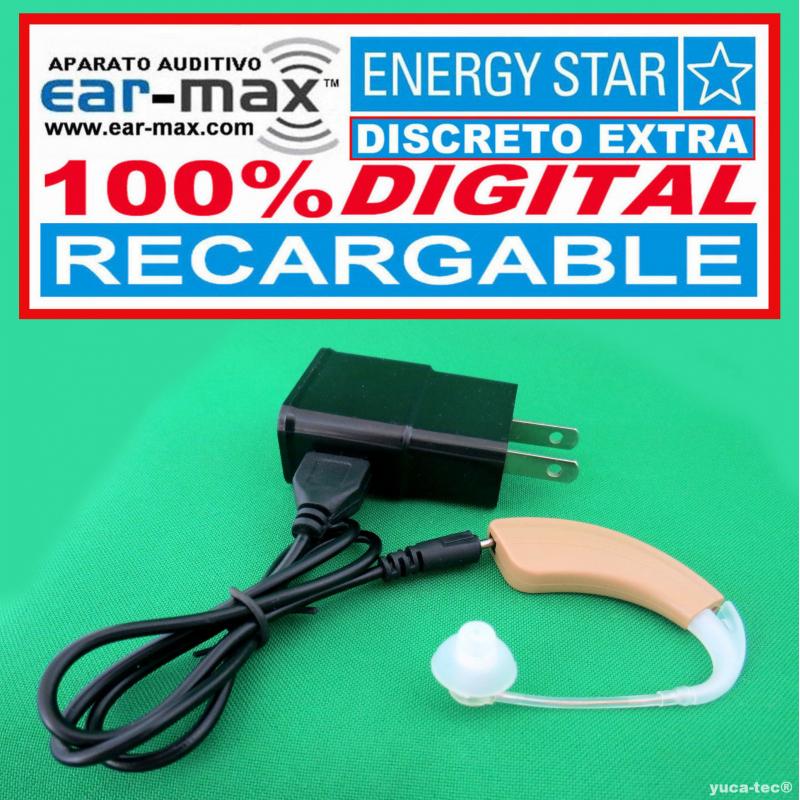 EAR MAX® ENERGY STAR DISCRETO EXTRA RECARGABLE - Aparato Auditivo 100% DIGITAL