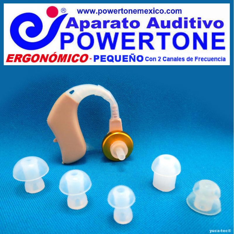 Paquete de 10 Auditivos al Mayoreo - POWERTONE® ERGONÓMICO Pequeño - con 2 Canales de Frecuencia