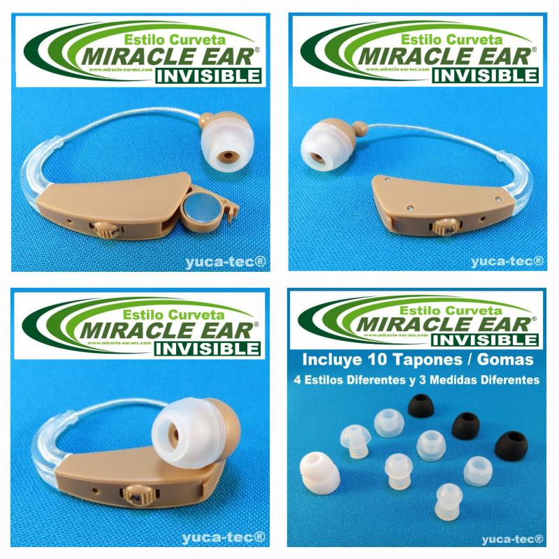 MIRACLE EAR® INVISIBLE Aparato Auditivo BATERÍA Estilo Curveta